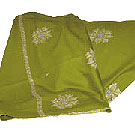 Green Color Embroidered Shawl to Udaipur