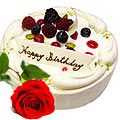 Wonderful cherishable Vanilla Cake combined with Red Rose to Gurgaon