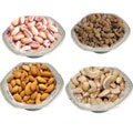 Pleasurable fiesta with mouth-watering Dry Fruits and Silver plated bowls to Bangalore