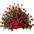 Classy arrangement of  100 Dutch Roses  to Bhavani