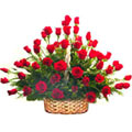 Pretty collection of 50 Red Roses to Trivandrum