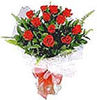 Charming one dozen  Red Roses to India