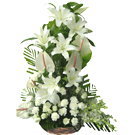 Exotic Assorted White Flowers Arrangement  to Sodepur
