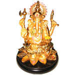 Metal Golden Ganesha to India