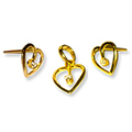 22K Heart Shaped Pendant & Tops with Diamond from Anjali to Bhavani