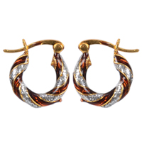 Lovely Gold Toned Metal Looped Earrings Set to Aluva