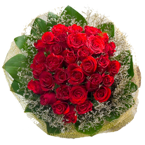 30 Red Roses Bouquet to Chennai