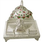 Silver Peetam And Ganesh Idol to Amargol