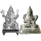 Divine looking silver plated Laxmi Ganesh idol to Gurgaon