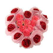 Long Lasting � Heart Shaped Arrangement Red n Pink Roses  to Gurgaon