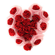 Long Lasting � Heart Shaped Arrangement of Red Roses   to Yamunanagar