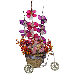 Attractive Pink and Purple Artificial Flowers to Raipur