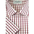 Half check shirt in Red & white from Arrow to Hosur