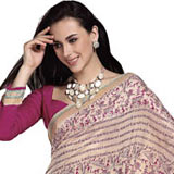 Charming Pink and Pink Art Silk Saree to Gurgaon