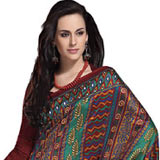 Engaging Multicoloured Art Silk Saree to Udaipur