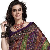 Beguiling Multicoloured Art Silk Saree to Apparels_for_her.asp