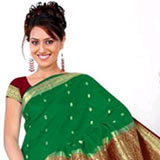 Glamorous Green Art Silk Saree to Pallagoundapalayam