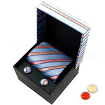 Sequined Designer Tie and Cufflink with free Roli Tilak and Chawal to Alwar