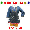 Gorgeous Blue Designer Kurti. to Jabalpur