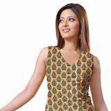 Remarkable Yellow and Red Crepe Unstitched Salwar Suit to Nashik