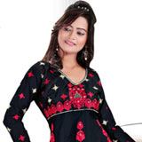 Chic Salwar Suit with an Excellent Display of Embroidery Work to Purulia