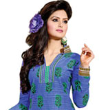 Fabulous Blue and Sea Green Coloured Salwar Suit to Puzhal