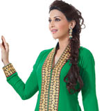 Extravagant Green Coloured Semi Stitched Georgette Salwar Suit to Mysore