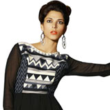 Admirable Black Coloured Georgette Embroidered Kurti to Bhopal