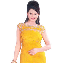 Thriving Bloom Georgette Kurti to Badharghat