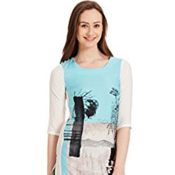 Ravishing Aqua Kurti by W to Bade Bacheli