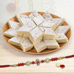 1 Rakhi with Kaju Katli 400 grams to Rakhi_to_australia.asp