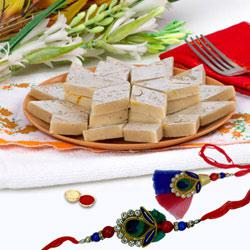 Stylish Bhaiya, Bhabhi Rakhi with 400gm Kaju Katli to Rakhi_to_australia.asp