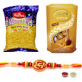 Sublime Festive Special Om Rakhi ,Lindt Chocolate with Moong Dal to Rakhi_to_australia.asp