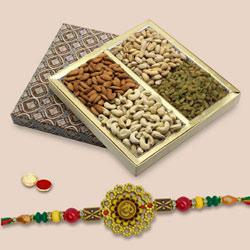 Holy Om Rakhi With Mix Dry Fruits to Rakhi_to_australia.asp