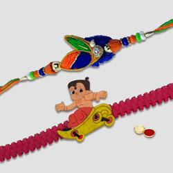Captivating Bade N Chote Bhaiya Rakhi Set to Rakhi_to_australia.asp