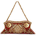 Striking Red Color Ladies Hand Bag to Palampur