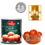 Gulab Jamun With Silver Plated Coin to Hissar