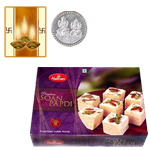 Haldiram Sona Papdi with Silver Plated Coin to Diwali_canada.asp