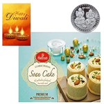 Tempting Soan Cake From Haldiram With Silver Plated Coin And Diwali Card to Diwali_canada.asp