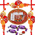 Rakhi Thali with Rakhi, Chocolates and Roli Tikka  to Rakhi_to_canada.asp