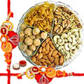 Assorted Dry Fruits with Rakhis and Roli Tikka  to Rakhi_to_canada.asp