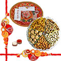 Rakhi Thali with Rakhis and Dry Fruits, Roli Tikka to Rakhi_dry_canada.asp