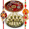 Rakhi Thali with 2 Rakhi�and  Kaju Roll to Rakhi_to_canada.asp