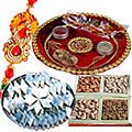 Rakhi Thali, 250 Gms. Kaju Katli and 250 Gms. Dry Fruits with Rakhi to Rakhi_dry_canada.asp