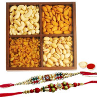Beautiful Festive Combo of Rakhi With Assorted Dry Fruits to Rakhi_dry_canada.asp