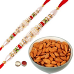 Beautiful Combo of 2 Rakhis Alongwith Almonds to Rakhi_dry_canada.asp
