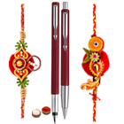 Parker Pen set with 2 Free Rakhi to Cochin