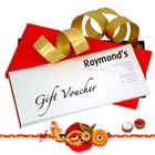 Raymond Gift Vouchers Worth Rs 1000 with 1 free Rakhi to Cochin