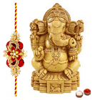 Sandalwood Ganesh with 1 Free Rakhi to Cochin