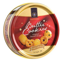 Srcumptious Danish Butter Cookies gift pack to Adugodi